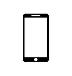 smartphone icon on a white background vector image