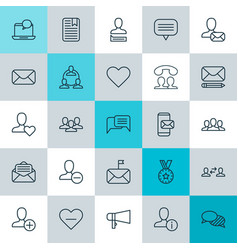 social icons set collection of message unity vector image