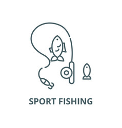 sport fishing line icon linear concept vector image