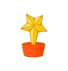 Star award icon cartoon style vector image