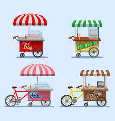 street food stall vector image