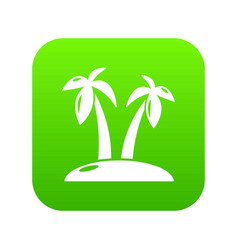 tropical island icon green vector image