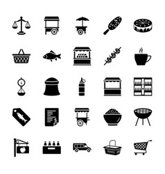 Vendor solid icons pack vector