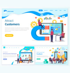 website templates concept attracting customers vector image