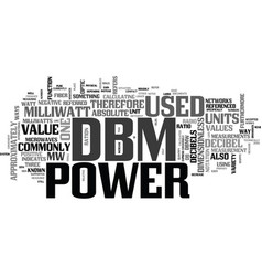 What is a dbm text word cloud concept vector