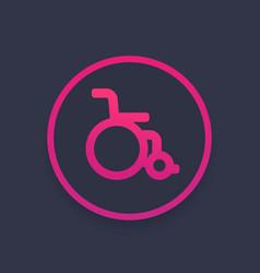 Wheelchair icon sign vector