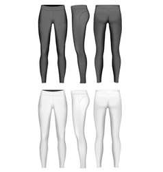 Womens full length leggings vector