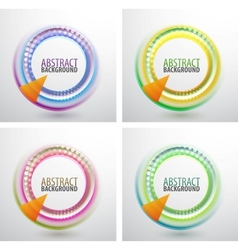 Abstract circles background vector image vector image