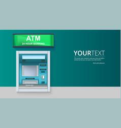 bank cash machine atm - automated teller machine vector image vector image