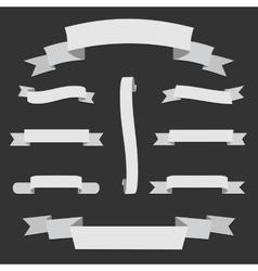 Big white Paper origami Web Ribbons Set vector image vector image