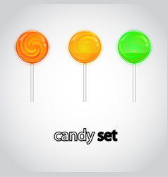 colorful lollipop candy collection vector image