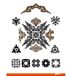 Elegance decorative set vector image