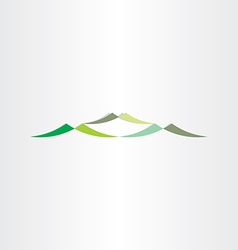 green mountains logotype design icon vector image