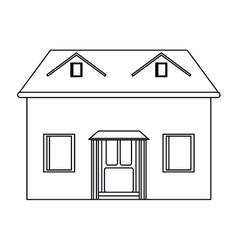 house facade loft outline icon vector image vector image
