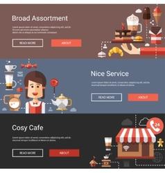 modern flat design coffee-shop vector image