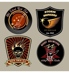 Rock badges vector image