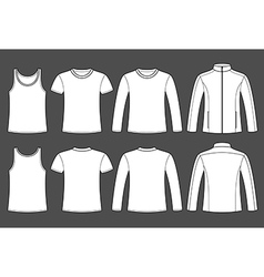 Singlet T-shirt Long-sleeved T-shirt and Jacket vector image
