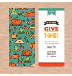 Thanksgiving Day invitation vector image vector image