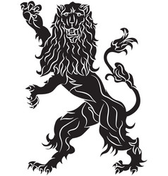 the rebels lion - the heraldic symbol vector image