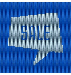 Blue Knitted Sale Bubble vector image vector image