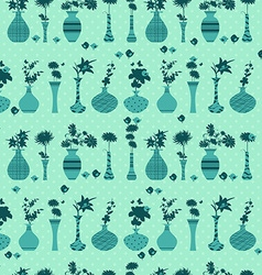 cute seamless texture with rows of variety modern vector image