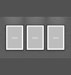 empty white a4 sized paper frame mockup show your vector image vector image