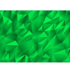 Green abstract low-poly polygonal triangular vector image