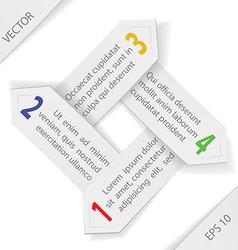 Paper Arrows vector image vector image