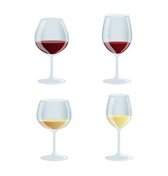 set of wine glasses vector image