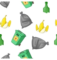 Waste pattern cartoon style vector image vector image