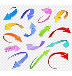 Collection of sketch arrows vector image vector image