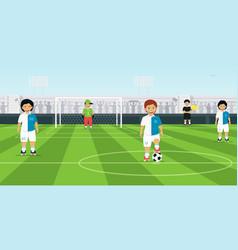 kids soccer team vector image vector image