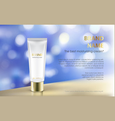 Poster for the promotion of cosmetic moisturizing vector