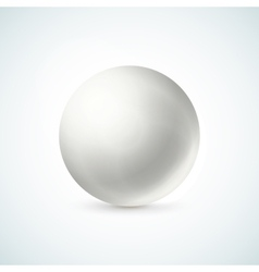 White glossy sphere isolated on white vector image vector image