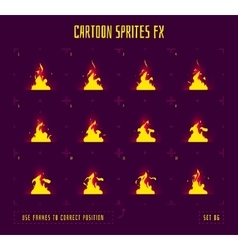 Animation frames or fire sprites vector image