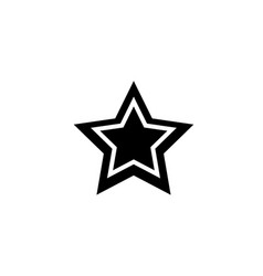 black star web mobile icon silhouette sign flat vector image