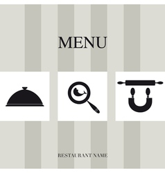 Menu for restaurant vector image vector image