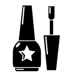 nail polish icon simple black style vector image
