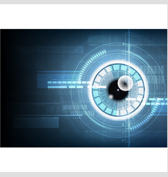 abstract technological eye scanning id security vector image