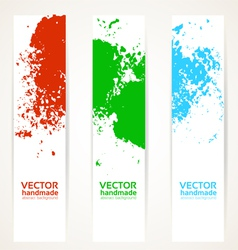 Abstract vertical handdrawing banner set vector