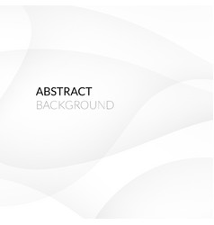 Abstract white background with smooth lines vector image