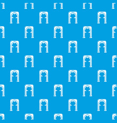 Archway villain pattern seamless blue vector
