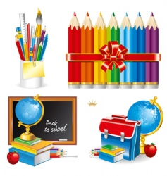 Back to school set illustration vector