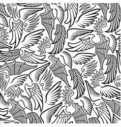 Background pattern with wings vector