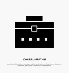 Bag worker bag user interface solid glyph icon vector