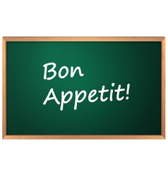 Bon Appetite sign vector image