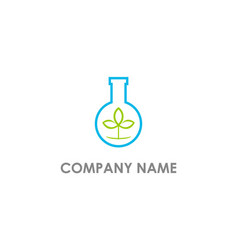 bottle lab eco organic logo vector image