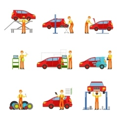Car Repair Shop Services Set Of vector