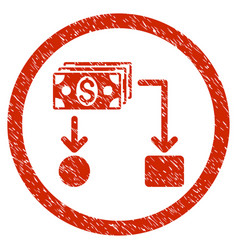 cashflow rounded grainy icon vector image