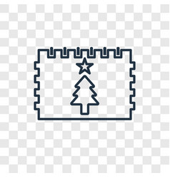 christmas day concept linear icon isolated on vector image
